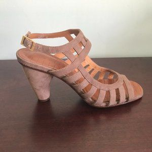 Chie Mihara   Taupe Suede Sandals